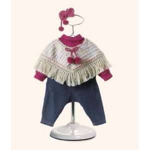 Knitted Poncho/Jeans 2009 Adora doll outfit: Toys & Games