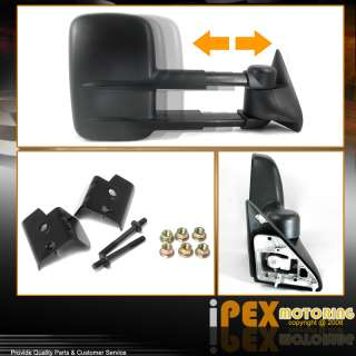 /2500/3500 (MANUAL) Towing Tow Hauling Side View Mirror PAIR