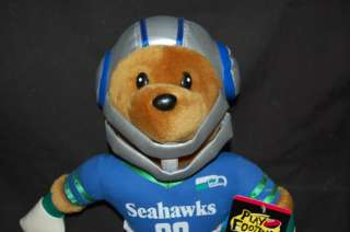 NWT 15 Plush Seattle Seahawks Football 2000 NFL BEAR