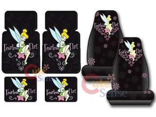 TinkerBell 12pc Auto Car Seat Covers Accessories Set