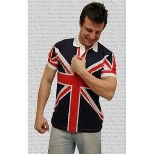 British Flag   Union Jack Unisex Polo Shirt Adult Small 36