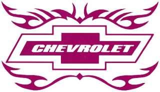 Tribal Chevrolet 8 Bow Tie Vinyl Decal T 2 12 Colors