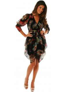 Traffic People Dress Feathers At Dawn Sonny Silk Printed Dress