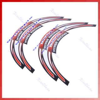 Motorcycle Car RIM Stripe Wheel Decal Tape Stickers For HONDA Racing