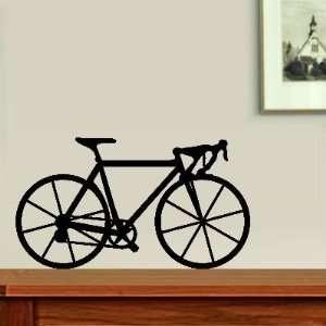 Black Road and Track Bike Bicycle Fun Wall Decal