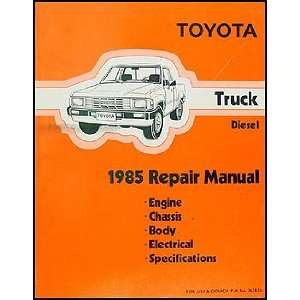 Toyota Pickup Truck Repair Shop Manual Original Diesel Toyota Books