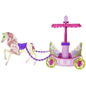 Barbie Princess Charm School Horse And Carriage Toys & Games