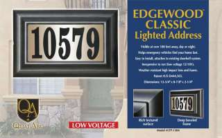 Finally, an attractive, high quality lighted address plaque at an