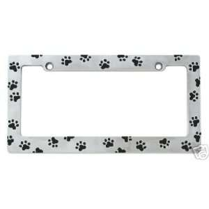 Bear Paw Prints License Plate Holder Frame NEW Automotive