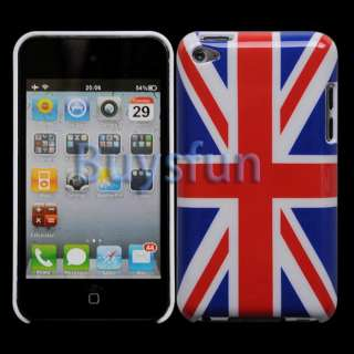Union Jack Flag Style HARD CASE COVER FOR APPPLE IPOD TOUCH 4 4G