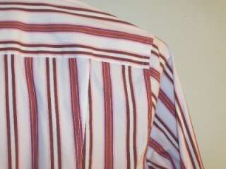 FACONNABLE WOMENS Blouse shirt NICE BLOUSE thick stripe XS used UNIQUE