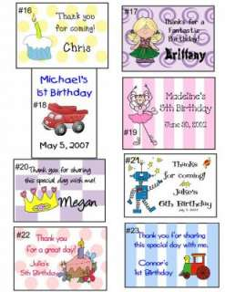 Birthday PARTY FAVOR PINATA BAGS & Labels Personalized