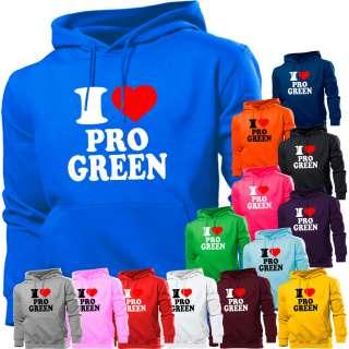LOVE PROFESSOR PRO GREEN HOODIE HOODY MENS WOMEN BOYS GIRLS KIDS