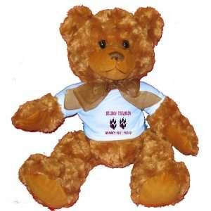 BELGIAN TERVUREN WOMANS BEST FRIEND Plush Teddy Bear with BLUE