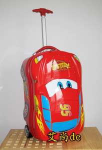 Disney Cars Luggage Bag Case Baggage Trolley Roller 338