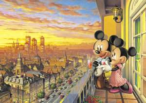 Tenyo Japan Jigsaw Puzzle D 300 197 Disney Mickey Mouse Sunset (300