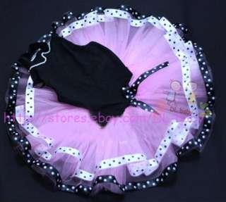 Dance Party Leotard Ballet Costume Tutu Girl Fancy Dress size 2 8 yrs