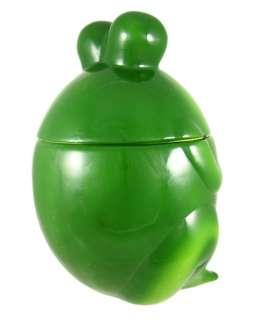 Incredibly Cute Green Frog Ceramic Cookie Jar