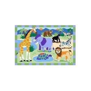 Kids Wild Animals 19x29 Play Time Nylon Area Rug OLK 054 1929 Baby
