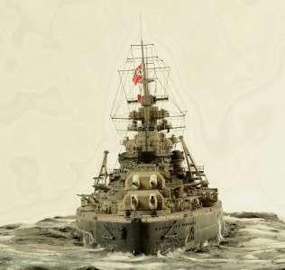 Built 1/350 DKM Bismarck German battleship model ship