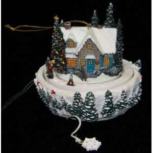 Thomas Kinkade Victorian Skaters Pond Animated Christmas Tree