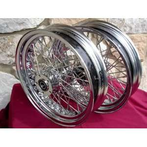 16X3.5 60 SPOKE FRONT & REAR WHEEL SET FOR HARLEY ROAD