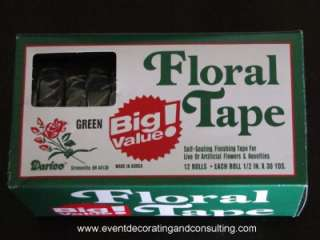 12 ROLLS HIGH QUALITY FLORAL TAPE