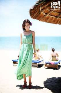 Bohemian Sleeveless Strap Summer Beach Wear Long Recreational Dress