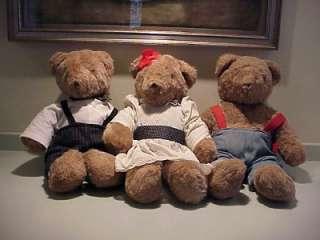 Family of 3 Vintage Bloomingdales Teddy Bears Ca.79 North American