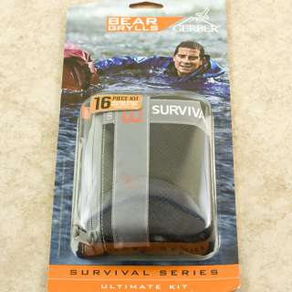 Gerber BEAR GRYLLS Ultimate 16 Piece Survival Kit Knife 0701 Multi