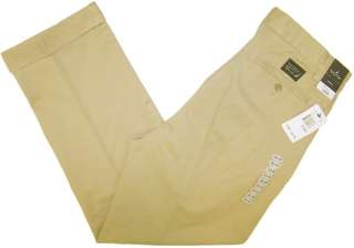 Nautica Classic Fit Double Pleated Beech Khaki Pants NWT Ö