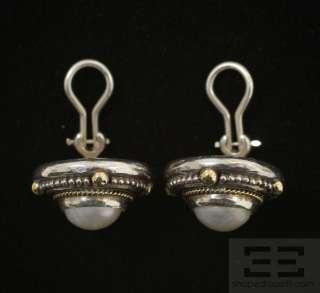 Stephen Dweck Sterling Silver, 18K Gold & Pearl Earrings