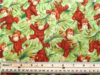 New Jungle Babies Fabric BTY Monkeys Pattie Reed