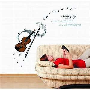 Large Music Notes Violin a Song of Joys Wall Sticker Decal