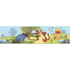 Roommate RMK1497BCS Pooh and Friends Peel and Stick Border