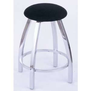 Stool with Black Vinyl Seat Finish Black Wrinkle Furniture & Decor