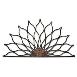NEW Sun Half Round Bronze Wrought Iron Hanging Wall Art