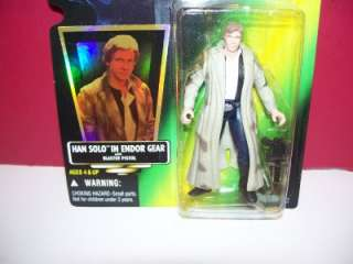 1997 STAR WARS POTF HAN SOLO IN ENDOR GEAR FIGURE MOC