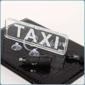 TAXI Bright LED PMMA Board Roof Sign White Light Indicator with Car