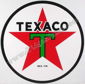 TEXACO T STAR 9 VINYL GAS & OIL PUMP DECAL DC 120E