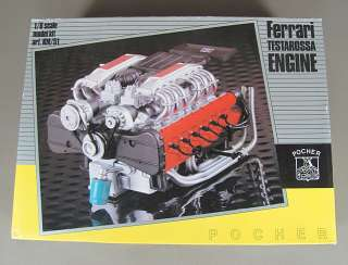 POCHER Ferrari Testarossa Engine 1/8 Scale Model Kit Art. KM/51