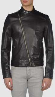 Classsic Black Leather Motorcycle Biker Jacket Coat new