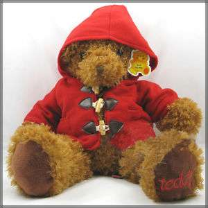 Super CUTE Red Coat Teddy Bear Plush Toy Doll 25H