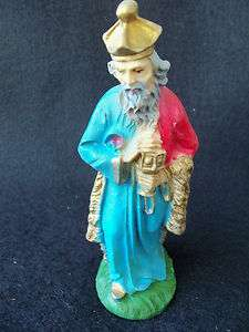 Vintage Nativity Wise Man ITALY COLORFUL NICE DETAILS