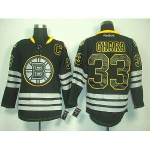 Zdeno Chara #33 NHL Boston Bruins Black Hockey Jersey Sz50