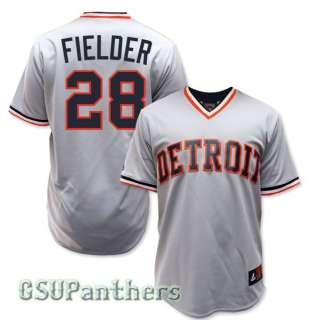 Prince Fielder Detroit Tigers COOPERSTOWN Grey Road Jersey Mens SZ (M