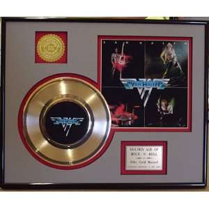 VAN HALEN GOLD RECORD LIMITED EDITION DISPLAY Everything