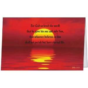 Relgious Bible Spiritual Sympathy Sunset Beautiful Greeting Card (5x7
