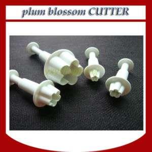 plum blossom flower plunger cutter Fondant Cakes 4pcs
