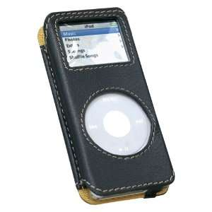 Luxury Pouch Case for iPod Nano   Nappa Leather (Black) Electronics